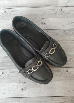 37р кожа!fila италия,синие туфли лоферы,мокасины4
