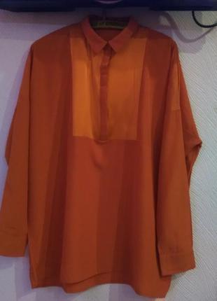 Красивенная кораловая рубашка1