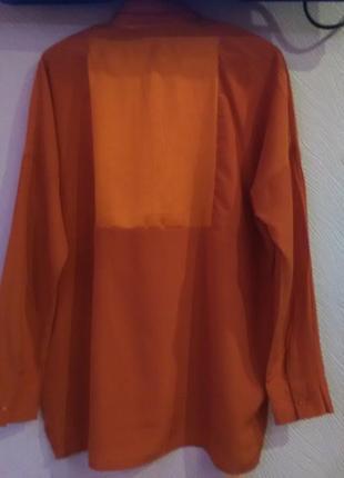 Красивенная кораловая рубашка2