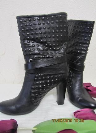 Ботинки женские, деми, натуральная кожа, размер 38-25см