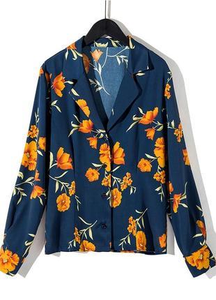 Блуза с цветочным принтом! рвзмер s.1