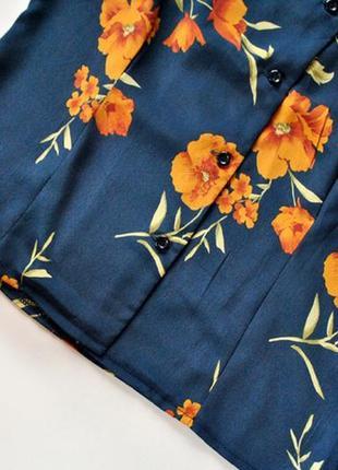 Блуза с цветочным принтом! рвзмер s.5