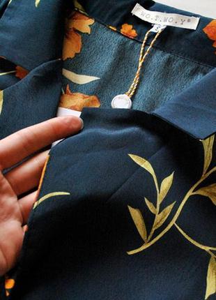 Блуза с цветочным принтом! рвзмер s.8