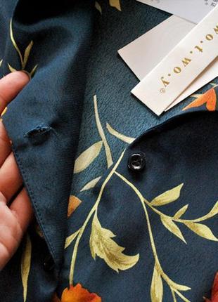 Блуза с цветочным принтом! рвзмер s.7