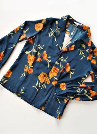 Блуза с цветочным принтом! рвзмер s.2