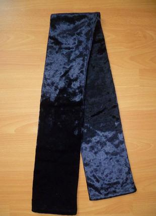 Шарф, хомут велюровый италия 124х14, шарф велюровий2