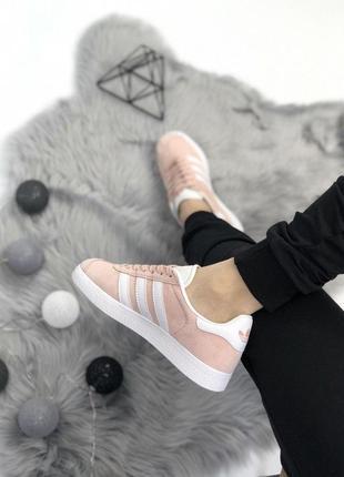 Шикарные женские кроссовки adidas gazelle pink 😍 (весна/ лето/ осень)3