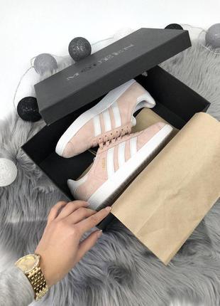 Шикарные женские кроссовки adidas gazelle pink 😍 (весна/ лето/ осень)6