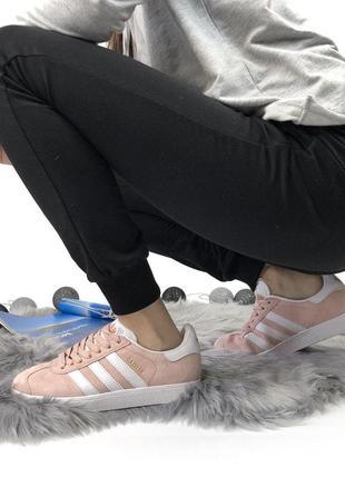 Шикарные женские кроссовки adidas gazelle pink 😍 (весна/ лето/ осень)7