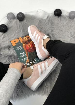 Шикарные женские кроссовки adidas gazelle pink 😍 (весна/ лето/ осень)9
