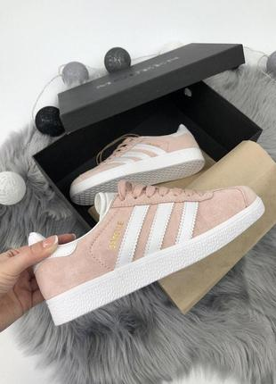 Шикарные женские кроссовки adidas gazelle pink 😍 (весна/ лето/ осень)8