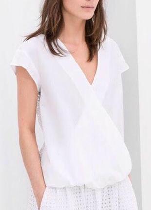Нежная кружевная блуза zara basic, xs, лимитированная коллекция4