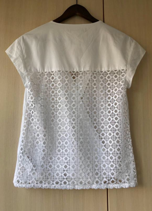 Нежная кружевная блуза zara basic, xs, лимитированная коллекция6