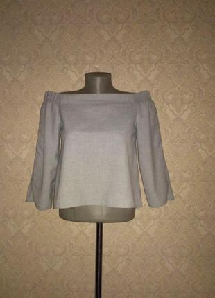 Шикарная блуза со спущенными плечами от zara1