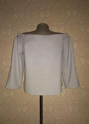 Шикарная блуза со спущенными плечами от zara5