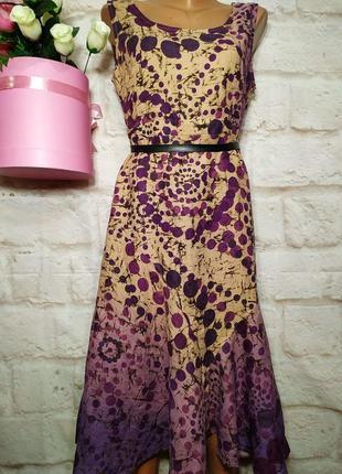 Платье миди льняное р 18 marks&spencer1
