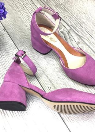 Эксклюзивные открытые туфли из натуральной итальянской замши4