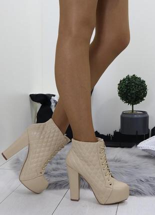 Новые шикарные женские демисезонные ботильоны ботинки3