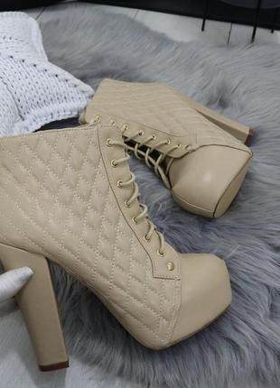 Новые шикарные женские демисезонные ботильоны ботинки4
