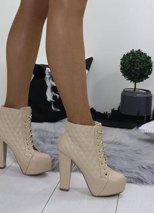 Новые шикарные женские демисезонные ботильоны ботинки5
