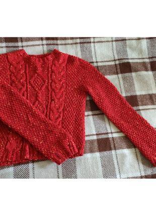 Укороченный яркий свитерок от h&m1