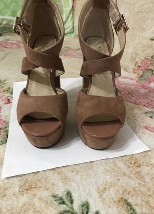 Кожаные замшевые босоножки туфли босоножки размер 356