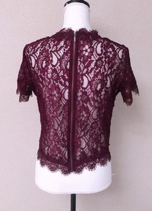 Шикарная кружевная блуза топ с молнией на спине3