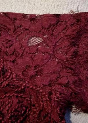 Шикарная кружевная блуза топ с молнией на спине4