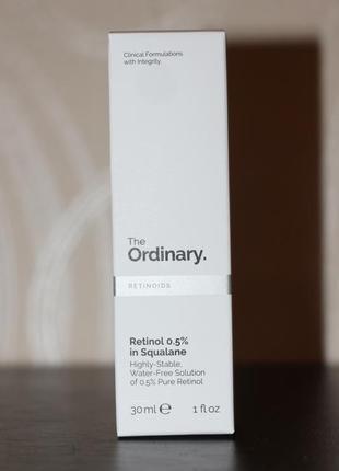 The ordinary retinol 0. 5% in squalane сыворотка с ретинолом2