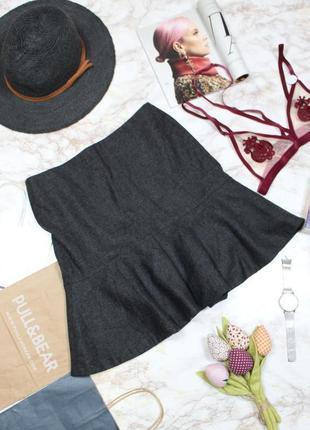 Обнова! юбка серая годе шерсть качество luxury2