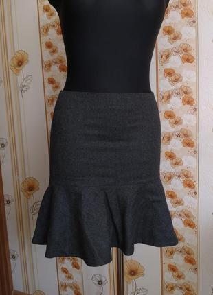 Обнова! юбка серая годе шерсть качество luxury7