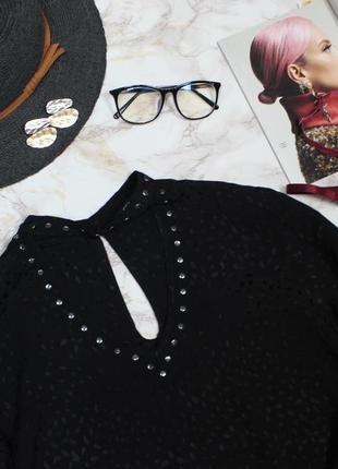 Обнова! блуза блузка рубашка с чокером с заклепаками качество3