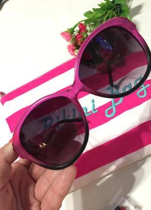 Солнцезащитные очки с розовым ободком4