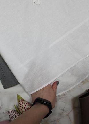 Обнова! рубашка белая свободного кроя удлиненная кежуал качество люкс лён коттон opus10