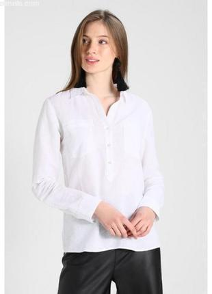 Обнова! рубашка белая свободного кроя удлиненная кежуал качество люкс лён коттон opus1