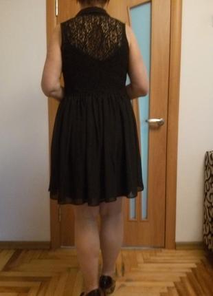 Стильное комбинированное гипюром платье7