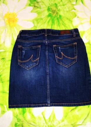 Отличная джисовая юбка базовая с потьортостями7