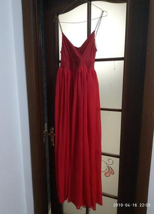Платье в пол с разрезом/ вечернее шифоновое платье3