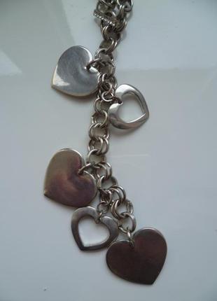 Подвеска сердца, цепочка с сердечками,підвіска, ланцюжок3