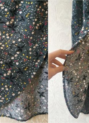 Длинное платье/сарафан в цветочный принт с запахом5