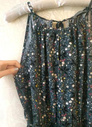 Длинное платье/сарафан в цветочный принт с запахом6