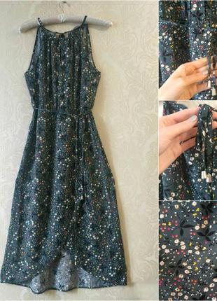 Длинное платье/сарафан в цветочный принт с запахом3