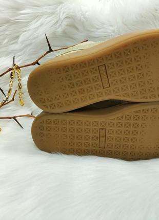 Крутые замшевые кроссовки puma platform exotskin wn's ( 37 размер )4