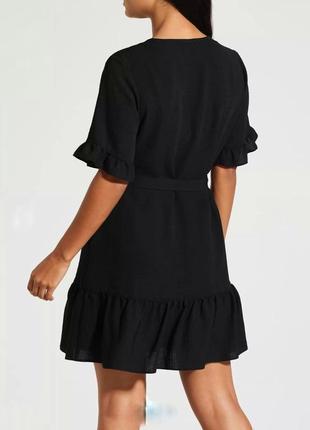 Милое актуалтрое черное платьеце на пуговках  р. 16 l-xl3