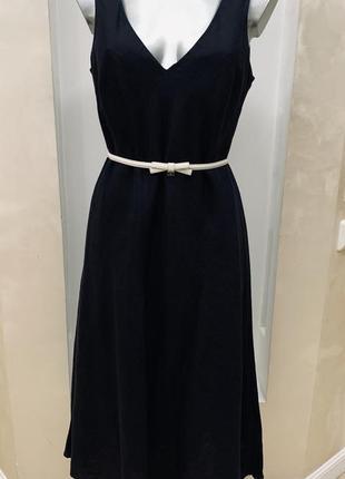Платье, сарафан laura ashley, оригинал, лен, миди