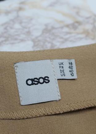 Обнова! юбка мини трапеция камел беж с пуговицами декор качество6