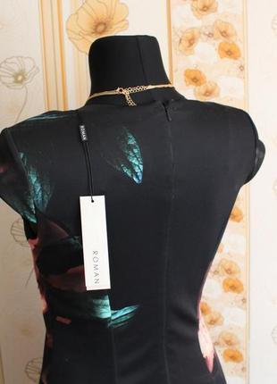 Обнова! платье миди футляр годе волан качество флористический принт новое8