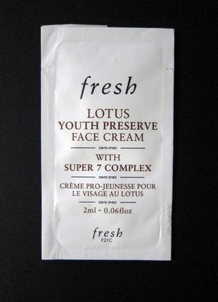 Набор fresh soy face cleanser (гель для умывания) и lotus youth preserve face cream (крем)4