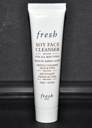 Набор fresh soy face cleanser (гель для умывания) и lotus youth preserve face cream (крем)2