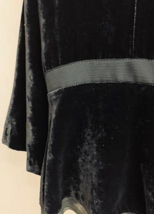 Пиджак, накидка laura ashley, бархат, аппликация, бисер5